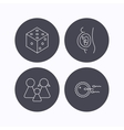 Pregnancy family and family planning icons vector image