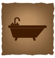 Bathtub sign Vintage effect vector image