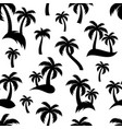 black palm trees seamless pattern vector image