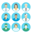 Medical clinic staff flat avatars vector image