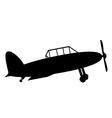 Retro military airplane icon vector image