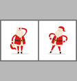 santa clauses set tired father christmas icons vector image