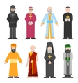 set of different religion people confession vector image