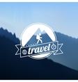 Tourism travel logo design vector image
