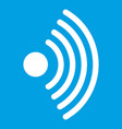 wireless network symbol icon white vector image