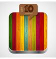 Wooden app icon vector image