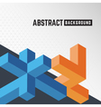 Abstract 3D Orange and Blue element background vector image vector image