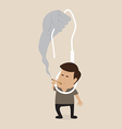 Smoking and excute by hanging vector image