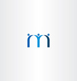 blue letter m people friends icon vector image