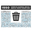 Trash Can Icon and More Interface Business Tools vector image