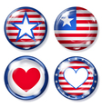 Glass buttons with USA symbols vector image vector image