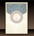 Blue and Gold Paisley Envelope vector image vector image
