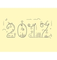 Inscription of New Year 2016 with decoration vector image