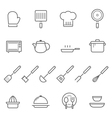 Lines icon set - kitchenware vector image