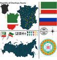 Map of Republic of Chechnya vector image