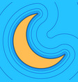moon sign sand color icon vector image