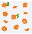 Seamless pattern with flat orange vector image