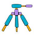 tripod icon cartoon vector image
