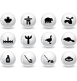 Web buttons Canada symbols vector image