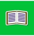 paper sticker on stylish background school vector image