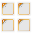 Four Options Template With 3D Page Curl vector image vector image