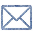 letter fabric textured icon vector image