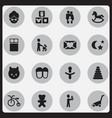 set of 16 editable folks icons includes symbols vector image