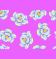 seamless pattern with magnolia flowers decorative vector image