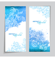 Abstract Watercolor Blue Banners vector image vector image