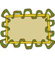 snake frame vector image vector image