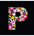 floral p vector image vector image