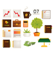 office objects vector image vector image