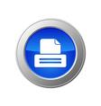 printer button vector image