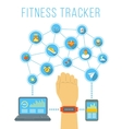 Fitness tracker flat infographic vector image