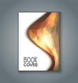 Abstract design book cover vector image