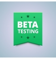 Beta testing badge vector image