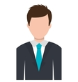 Business executive male concept icon vector image