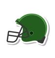american football helmet isolated icon vector image