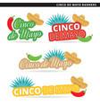 cinco de mayo banners vector image