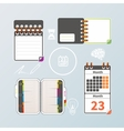 Colorful notebook and calendar set vector image