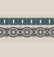 decorative stripe pattern paisley floral design vector image
