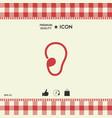 ear symbol icon vector image