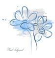 floral watercolor vector image