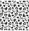 love theme hearts valentines day seamless vector image