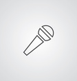 microphone outline symbol dark on white background vector image