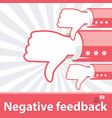 negative feedback vector image