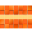 Orange tiles threedimensional - vector image