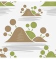 Tropical islands seamless pattern vector image