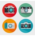 vintage and modern photo camera design graphic vector image