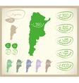 Bio Map AR Argentina vector image